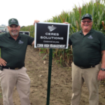 """""""As partners to the farmer, we are as interested in what is happening below the soil as what is happening above it. Together, we are on the right path."""" - Jim Sprowl (with CCA Troy Jenkins) Ceres Solutions Agronomy. (Courtesy of Ceres Solutions)"""
