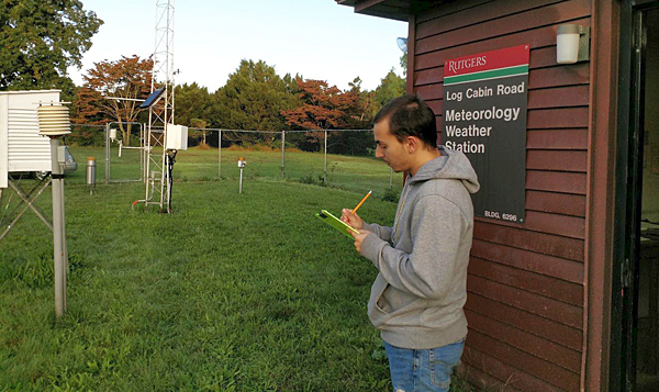 NWS honors Rutgers site for weather observations