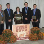 Congratulations to the Wisconsin 4-H Dairy Youth Team from Green County on winning the 2018 National Contest at World Dairy Expo. (Courtesy of UW-Extension)