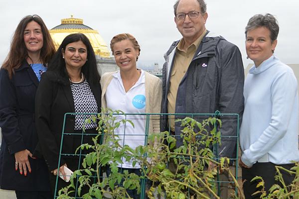 NJDA highlights rooftop garden at Newark school