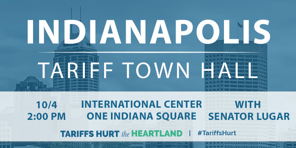 Indianapolis Tariff Town Hall Oct. 4