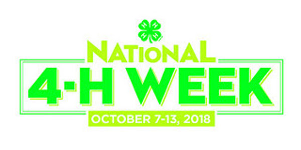 For the 76th consecutive year, millions of 4-H youth, parents, volunteers and alumni across the country will celebrate National 4-H Week from October 7-13.