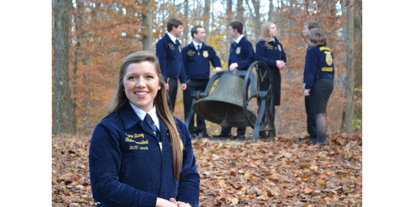 Claire Baney, 2017-2018 Indiana FFA State President. (Courtesy of Indiana State Department of Agriculture)