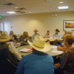 Representative, Kimmi Lewis, addressing the group during discussion at the 13th Annual CICA Convention in Pueblo, CO. (Courtesy of Colorado Independent CattleGrowers Association)