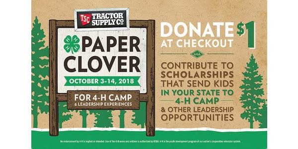 4-H Paper Clover promotion begins Oct  3 | Morning Ag Clips
