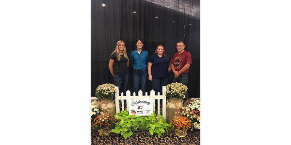 Michigan Junior Dairy Management contestants Hayley Wineland, Kaylee Kriser, Jennifer VanLieu and Jonah Haskins. (Courtesy of Michigan State ANR)