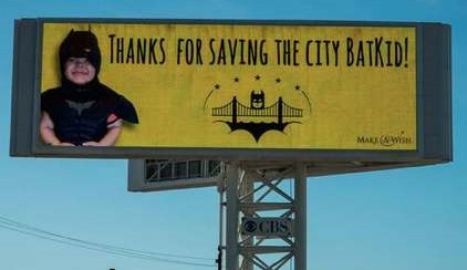 Bat Kid 'saved' San Francisco 5 years ago, and his cancer has been in remission ever since