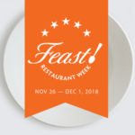 FEAST! Restaurant Week is a celebration of farm to table local foods by area restaurants, pubs, and cafés, Nov. 26 - Dec. 1, offering unique local food and beverage creations by area chefs and mixologists.