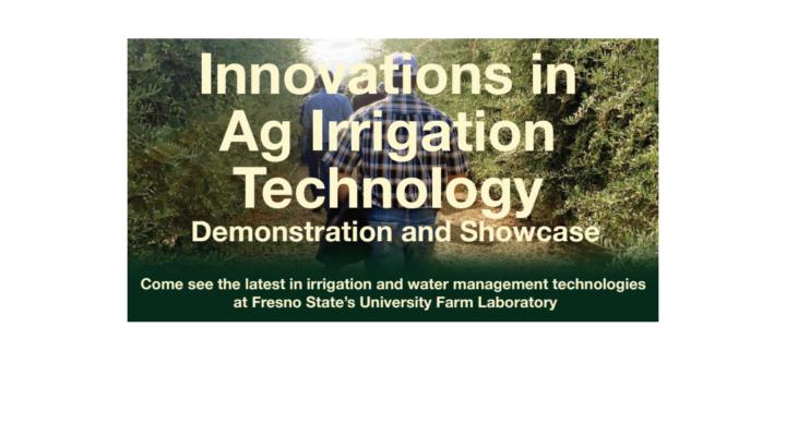 Innovation in Irrigation Technology Demo, Nov. 16