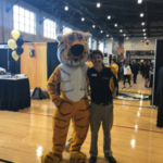 Matt Arri with Truman at the Fall 2018 Fall Internship and Career Fair. (Courtesy of University of Missouri)