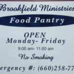 Brookfield Ministries Food Pantry is located in Brookfield, Mo. The group distributes a variety of food throughout the Linn County area. (Photo courtesy David Davis)