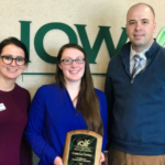 Last year's winner, Cathryn Carney, has gone on to be a selected as a presenter at the national conference and continues her work to integrate agriculture and science. (Courtesy of Iowa Agriculture Literacy Foundation)