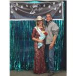 Haley Linder and her dad, Joe Linder, after being crowned Miss Ozark Rodeo Association. (Photo courtesy of Haley Linder)