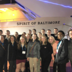 The UW-River Falls group at the SASES Conference prior to the awards banquet which was a dinner cruise on the Patapsco River. (Courtesy of UW-River Falls)