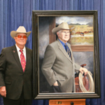"The Saddle and Sirloin Club Portrait Collection is an agricultural hall of fame that resides at the Kentucky Exposition Center. Each year a new member is inducted and their portrait unveiled. This year R.A. ""Rob"" Brown, Jr. from Throckmorton, TX joined an esteemed collection that includes many former presidents and agricultural policy makers. (Courtesy of Kentucky Venues)"