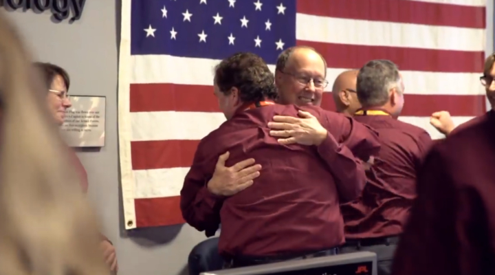 Watch NASA scientists' emotional reaction to successfully landing robot on surface of Mars
