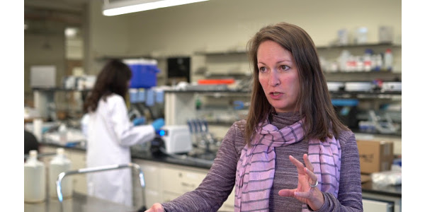 Sybil Sharvelle, associate professor of civil and environmental engineering, talks about her research on graywater use in a CSU-produced Conversation Starter, now airing on Rocky Mountain PBS. (Courtesy of CSU)