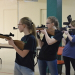 Youth compete in the 2018 State 4-H Air Rifle Championship event in Devils Lake, N.D. (NDSU photo)