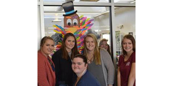 """Although the Thanksgiving Tom Turkey is one-dimensional, the artistic visual symbolizes a fun activity that many of us have enjoyed this month with a """"Countdown to Kindness"""" theme leading up to Thanksgiving. (Courtesy of NCTA)"""