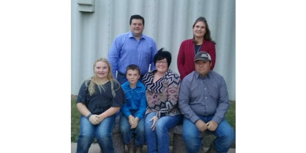 Fourth & fifth generation of Mahers. Front row: Brelan, 12; Brady, 10; Jolene & Wade. Back row: Ryan and Ann. (Courtesy image)