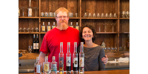 Jim and Sarah Pierce, who own Of the Earth Farm Distillery in Richmond, Mo., create their brandy and liquors from the fruits grown at their family orchard. (Courtesy of Missouri Department of Agriculture)