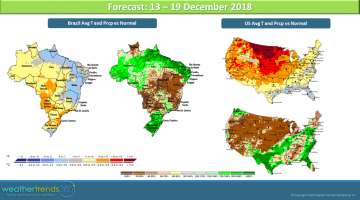 Brazil soybean update and U.S. weather outlook