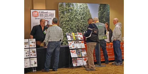Vendors at the 2018 Great Lakes Hop and Barley Conference. (Photo by Dani Renwick)