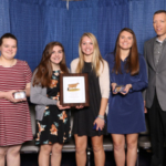 Top Jersey Team- L to R: Madi Palmer, Amber Engelken, Laney Demmer, Tehya Demmer, Seth Israelsen, Advance Services Consultant, AJCA. (Courtesy of ISU Extension and Outreach)
