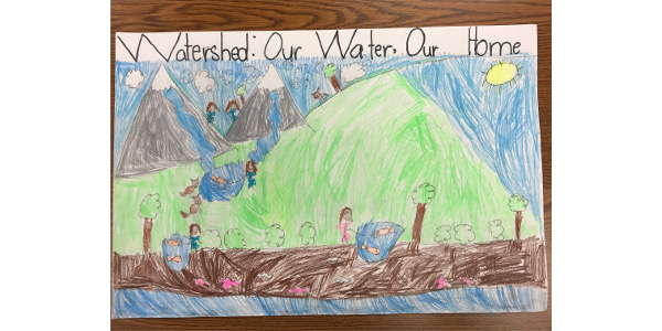 First grader Emma Lienemann's winning poster.