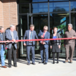 A ribbon cutting ceremony was held on Tuesday, December 18, 2018, for the future home of CDA's new Division of Laboratory Services. Governor John Hickenlooper, Lt. Governor Donna Lynne, and Commissioner of Agriculture Don Brown shared the value of the agricultural industry before cutting the ceremonial ribbon. (Courtesy of CDA)