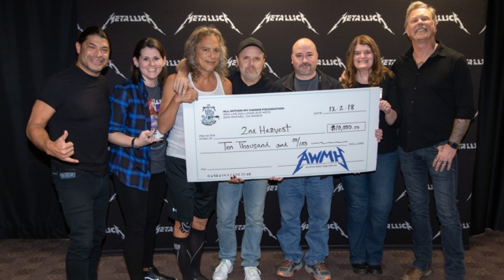 Metallica has been donating thousands of dollars to food banks on every stop of their world tour