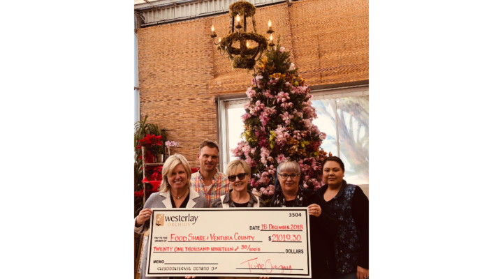 Westerlay Orchids donates $21k to FOOD Share