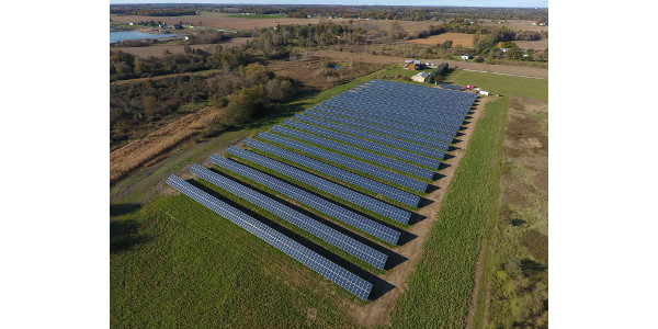 Harvest Energy Solutions solar system installed at Harvest Energy Lenawee in Lenawee County, MI. (Courtesy of Harvest Energy Solutions)