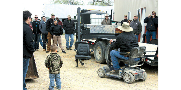 Among the services the Kansas AgrAbility Project helps to coordinate is assisting farmers and ranchers with lift chair technology so they can access their farming equipment. (Courtesy of K-State Research and Extension)