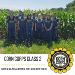 Nine young Kansas farmers completed Kansas Corn's Corn Corps young farmer program that expanded their network, knowledge of the corn industry and pushed them to grow in their business expertise. (Courtesy of Kansas Corn via Facebook)
