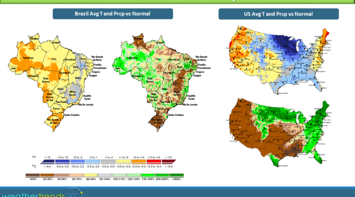 Brazil soybean harvest disappointing; Cold coming for U.S.