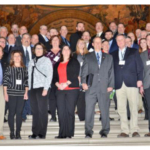 Growers from across the state visited the Missouri State Capitol to discuss issues relevant to corn growers with elected officials during the Missouri Corn Growers Association Annual Meeting and Legislative Day, Jan. 23 in Jefferson City. (Photo Credit: Missouri Corn Growers Association)