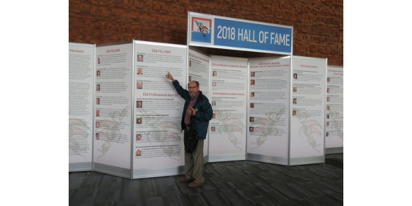 Dr. Opler after being elected as an Entomologist Society of America fellow in 2018. (Credit: Evi Opler)