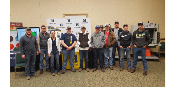 From left to right: Eric Wright (Western Center Instructor), John Remmert, Darcie Gallagher (Wamego Instructor), Justin Wenger, Branden Bussmann, Keithen Kopp, Cody Holthaus, Kyle Speilman, Cole Strathman, Kaleb Slater, and Devin Ronnebaum. (Courtesy of Highland Community College)