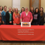 Participants and ISU Extension and Outreach Staff in the 2018 Le Mars Annie's Project class were (first row left to right) Debi Douma-Herren, Debra Ahlers, Crystal Schroeder, April Jurgens, Joyce Roeschke, Sterling Meyer, Nyla Wright, and Janelle Johnson, (back row) Madeline Schultz, Ann Schoenrock, Rahkel Hansen, Shelli Peters, Elizabeth Gorczynski, and Ashley Smith, (not pictured) Karol Holton, Lindsey Schlessor, Jill Sokness, and Nancy Tindall. (Courtesy of ISU Extension and Outreach)