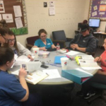 A student study group at NCTA's Veterinary Technology program. (Kennicutt / NCTA News photo)