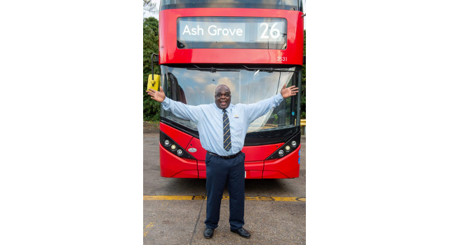Former homeless man becomes London's top bus driver