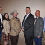 The Executive Committee is left to right: Andrew Stewart, Jennie Hodgen, Tim Schwab, Joe Horstman, Dr. Bruce Lamb and Chad Lanum. (Courtesy of Indiana Beef Council)