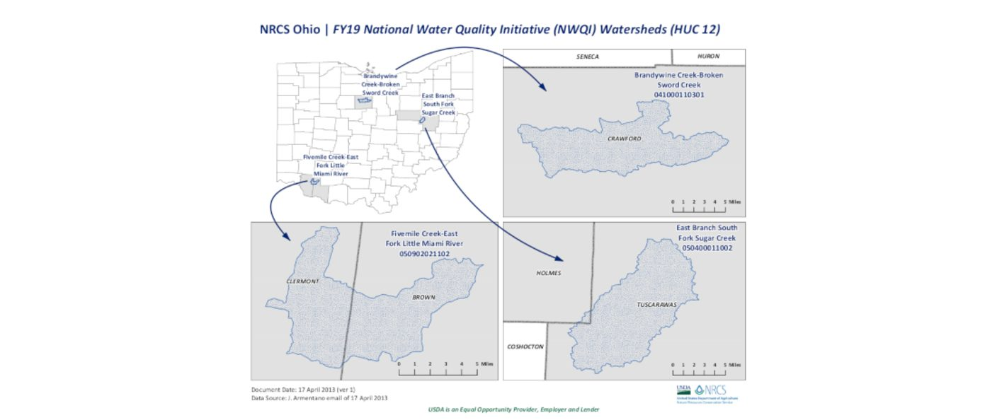 Water quality program for Ohio watersheds