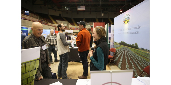 The event has a two-floor exhibit hall with more than 175 vendors offering products, information, or services to help farmers succeed. (Courtesy of MOSES)