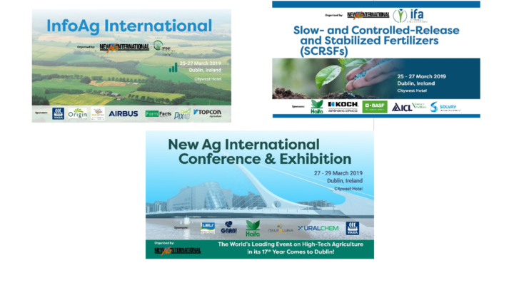 High-tech agriculture week in Dublin, March 2019