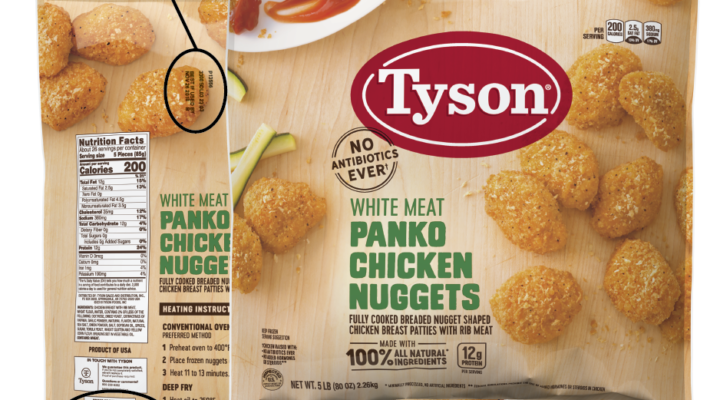 Tyson recalls chicken nuggets over rubber inside