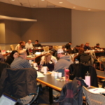 Participants of the NGFA–KSU FSMA training course discuss components within the food safety modernization act. (Courtesy of K-State Research and Extension)