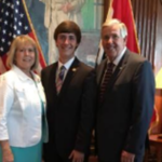 Mitchell Moon with Governor Mike Parson and First Lady of the State of Missouri Teresa Parson. (Photo courtesy of Mitchell Moon)