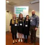 Three North Dakota 4-H'ers were selected to attend the 2019 National Youth Summit on Agri-Science in Chevy Chase, Md. Pictured are (from left) North Dakota delegates Kaitlyn Joerger, Lilly Bina and Marie Kraemer, and their chaperone, Greg Benz, NDSU Extension's agriculture and natural resources agent in Dunn County. (NDSU photo)